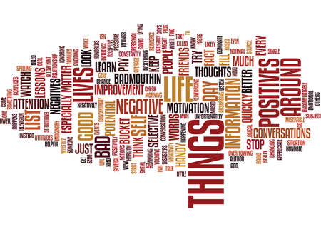 LOOK FOR THE POSITIVES Text Background Word Cloud Concept Illustration