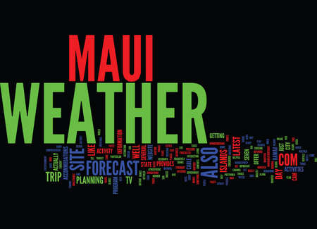 MAUI WEATHER Text Background Word Cloud Concept