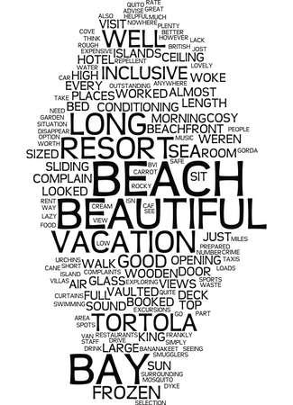 LONG BAY BEACH RESORT AND VILLAS TORTOLA Text Background Word Cloud Concept Illustration
