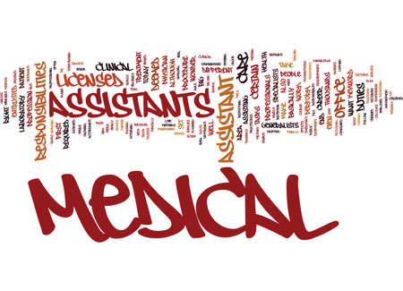 MEDICAL ASSISTANT Text Background Word Cloud Concept