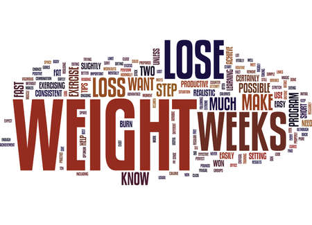LOSE WEIGHT IN WEEKS Text Background Word Cloud Concept