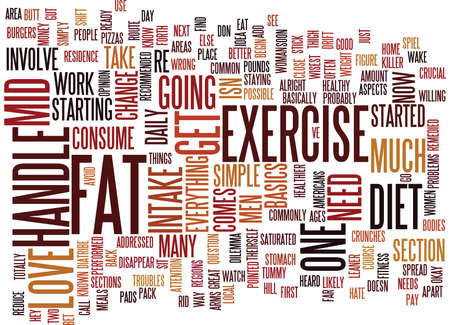 LOVE HANDLE EXERCISE Text Background Word Cloud Concept