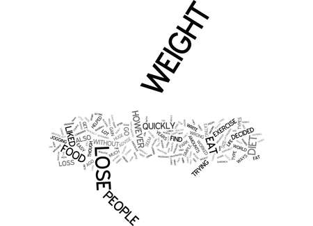 LOSE WEIGHT QUICKLY WITH THIS EASY TO MAINTAIN DIET Text Background Word Cloud Concept
