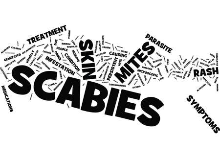 quickly: LONG TERM UNDESIRABLE EFFECTS OF SCABIES Text Background Word Cloud Concept