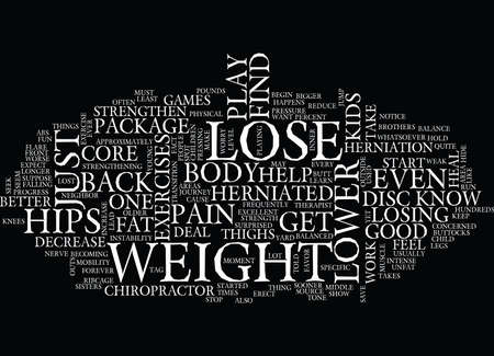 LOSE WEIGHT ON HIPS ITS A PACKAGE DEAL Text Background Word Cloud Concept Illustration