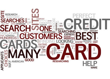 MAY THE BEST CREDIT CARD WIN Text Background Word Cloud Concept