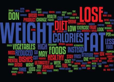 LOSE WEIGHT IN A WAY THAT S RIGHT FOR YOU Text Background Word Cloud Concept