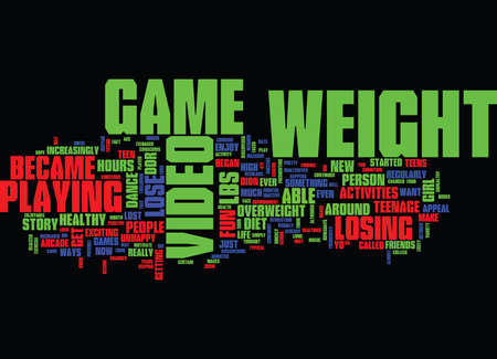 LOSS STORY SUCCESS TEEN WEIGHT Text Background Word Cloud Concept Illustration