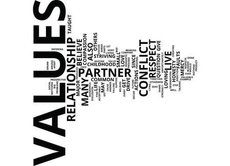 la fortune d & # 39 ; amour sont vos valeurs tels que votre mot de divorce concept de mot de fond de nuage