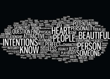 LOOKS OR HEART Text Background Word Cloud Concept 向量圖像
