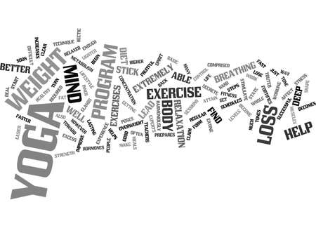 LOSE WEIGHT WITH YOGA Text Background Word Cloud Concept Иллюстрация