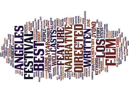 LOS ANGELES FILM FESTIVAL Text Background Word Cloud Concept