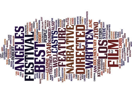 LOS ANGELES FILM FESTIVAL Text Background Word Cloud Concept