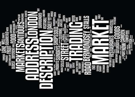 LONDON S MARKETS Text Background Word Cloud Concept