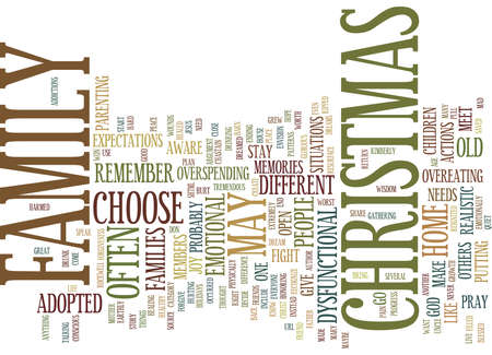 MAYBE THIS CHRISTMAS WILL BE DIFFERENT Text Background Word Cloud Concept Illustration