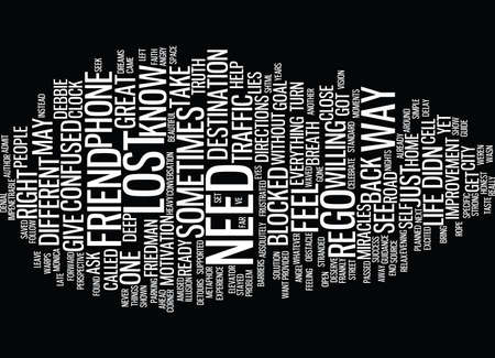 LOST IN L A Text Background Word Cloud Concept Illustration