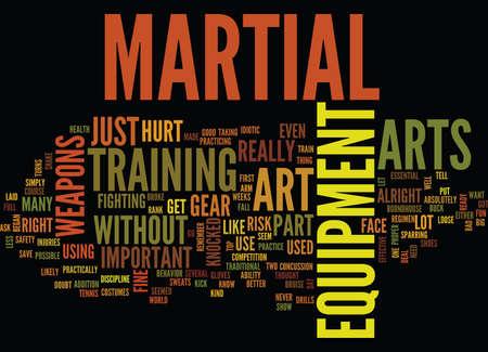 MARTIAL ART EQUIPMENT Text Background Word Cloud Concept Illustration
