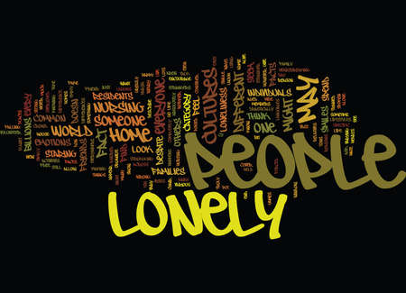 LONELY PEOPLE Text Background Word Cloud Concept