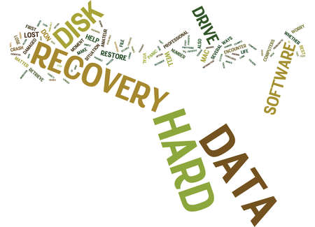 LOST HARD DRIVE DON T PANIC Text Background Word Cloud Concept Illustration