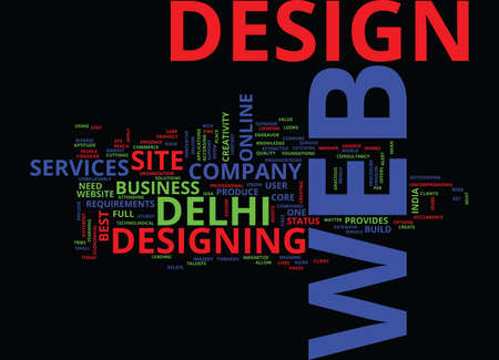 MEAN YOUR WEB WITH CREATIVITY Text Background Word Cloud Concept Illustration