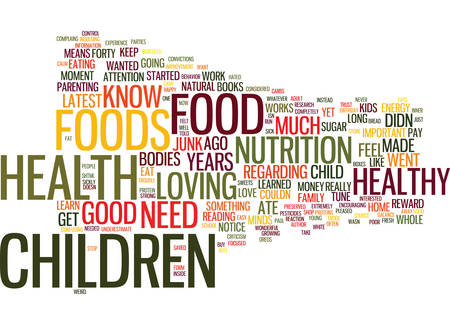 LOVE FOOD AND KIDS Text Background Word Cloud Concept Иллюстрация