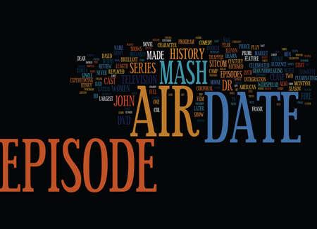 MASH DVD REVIEW Tekst Achtergrond Word Cloud Concept