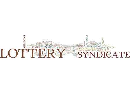 LOTTERY SYNDICATES SHOULD YOU PARTICIPATE Text Background Word Cloud Concept