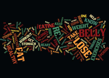 LOSE BELLY Text Background Word Cloud Concept
