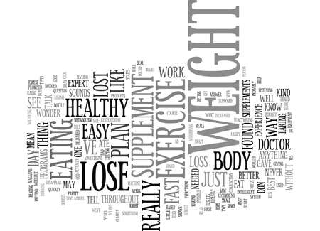 LOSE WEIGHT FAST AND EASY Text Background Word Cloud Concept