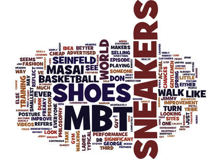 MBT SNEAKERS Text Background Word Cloud Concept