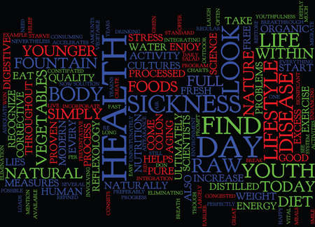 LOOK YOUNGER NOW Text Background Word Cloud Concept