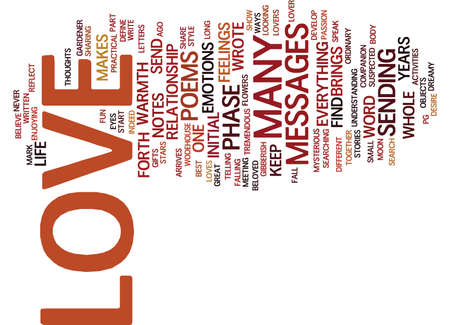 poems: LOVE MESSAGES Text Background Word Cloud Concept