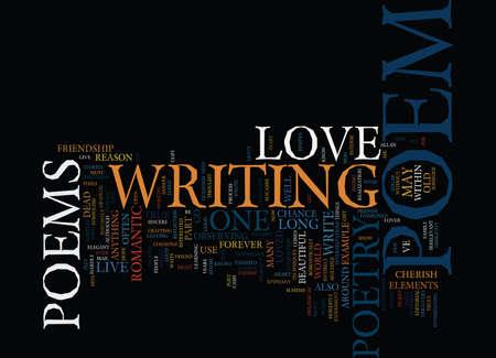 LONG LIVE THE LOVE POEM Tekst Achtergrond Word Cloud Concept