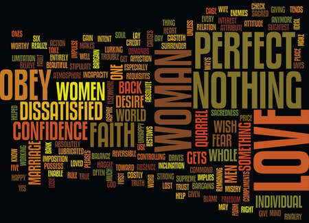 LOVE AND FAITH Text Background Word Cloud Concept Ilustração