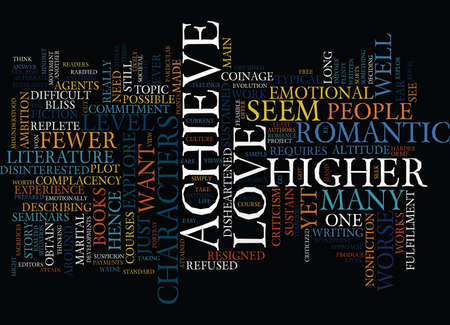 LOVE AT A HIGHER LEVEL Text Background Word Cloud Concept