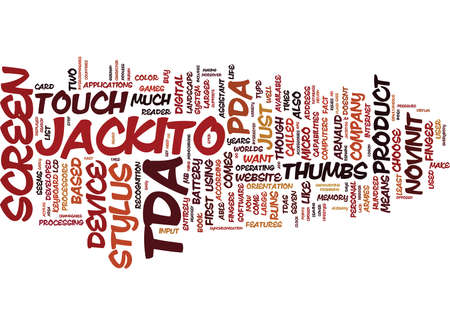 LOOK OUT PDA HERE COMES TDA Text Background Word Cloud Concept Illustration