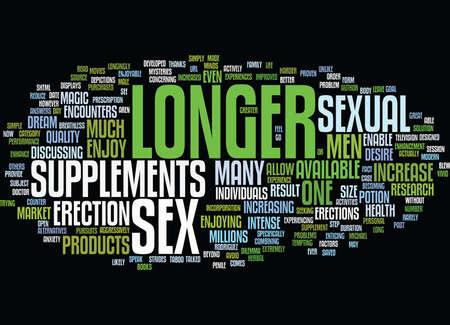 LONGER SEX Text Background Word Cloud Concept