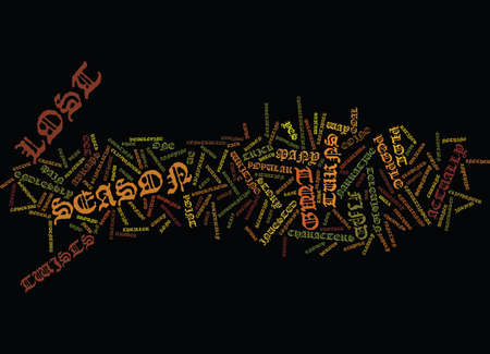 LOST SEASON TWO Text Background Word Cloud Concept Illustration