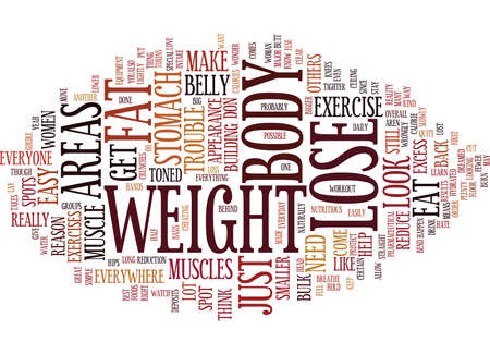 LOSE THE STOMACH FAT EVERYONE HAS TROUBLE SPOTS Text Background Word Cloud Concept Illustration