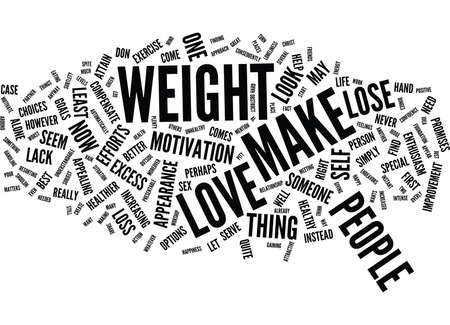 LOVE CAN MAKE YOU LOSE WEIGHT Text Background Word Cloud Concept