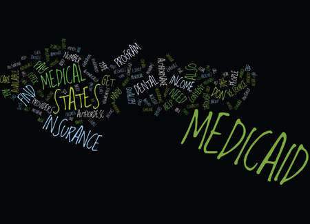 MEDICAID Text Background Word Cloud Concept