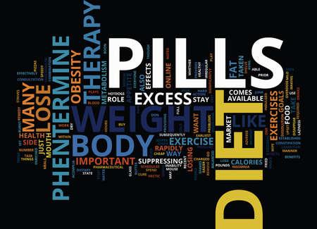 ダイエット薬療法テキスト背景単語雲概念と急速に重量を失う  イラスト・ベクター素材