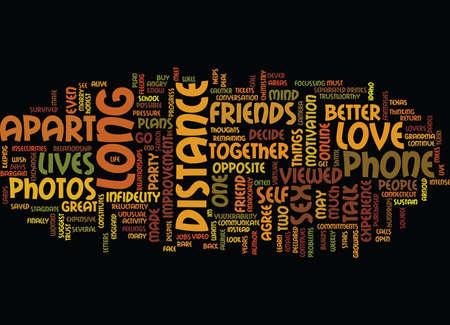 LONG DISTANCE LOVE Text Background Word Cloud Concept