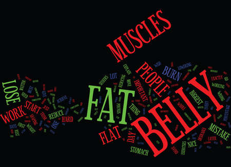 LOSE BELLY FAT NOW Text Background Word Cloud Concept