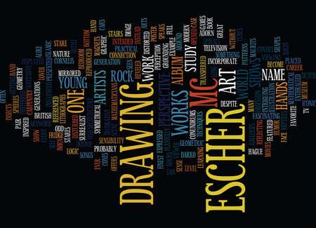 MC ESCHER Text Background Word Cloud Concept