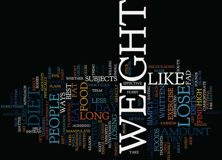 LOSE WEIGHT A FEW THOUGHTS Text Background Word Cloud Concept Stock Illustratie
