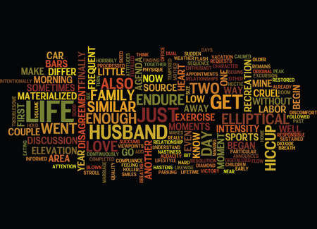 MARRIED TO THE ELLIPTICAL Text Background Word Cloud Concept