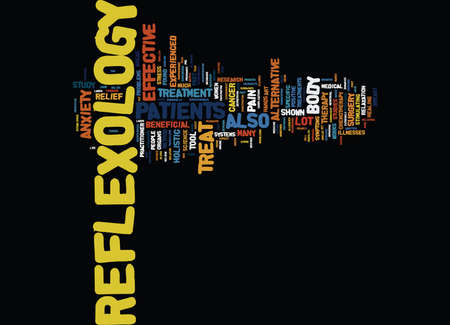 MARVEL THE WONDERS OF REFLEXOLOGY Text Background Word Cloud Concept
