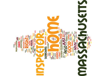 MASSACHUSETTS HOME INSPECTOR Text Background Word Cloud Concept Illustration