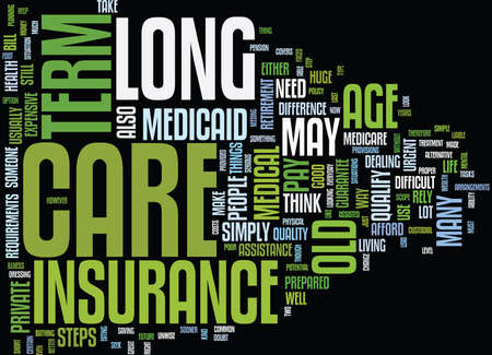 LONG TERM CARE INSURANCE Text Background Word Cloud Concept Illustration